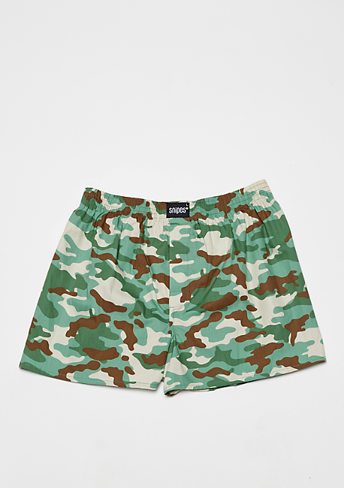 SNIPES 3er Boxer Cuffed camo/dots/stripes