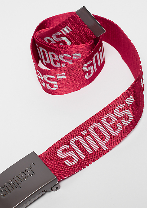 SNIPES Buckle Belt red/white