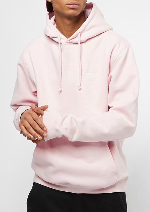 SNIPES Hooded-Sweatshirt Chest Logo crystal pink/white embroidery