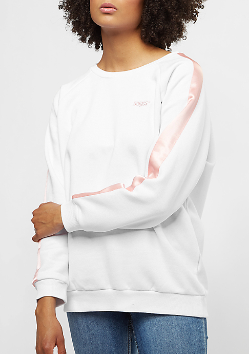 SNIPES Basic Logo Stripe white/silver pink