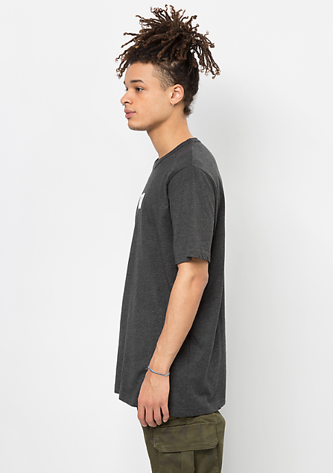 SNIPES T-Shirt Small Box Logo charcoal/white