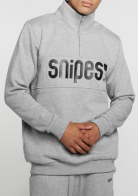 SNIPES Sweatshirt Troyer heather grey