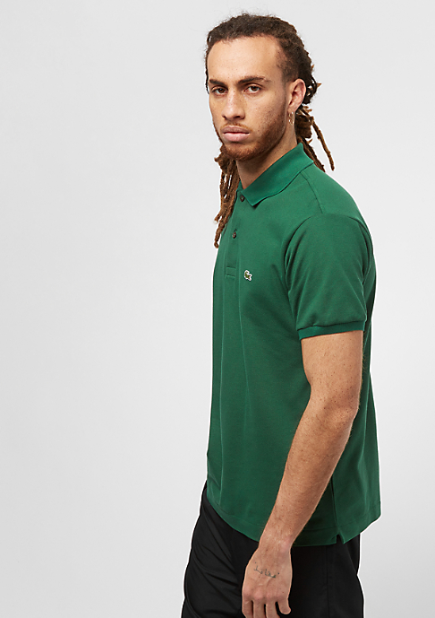 Lacoste Short Sleeved Ribbed Collar Shirt green