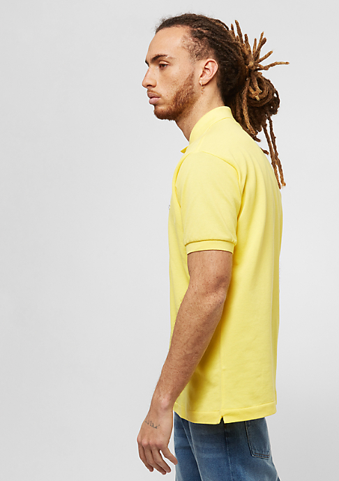 Lacoste Short Sleeved Ribbed Collar Shirt daphne yellow