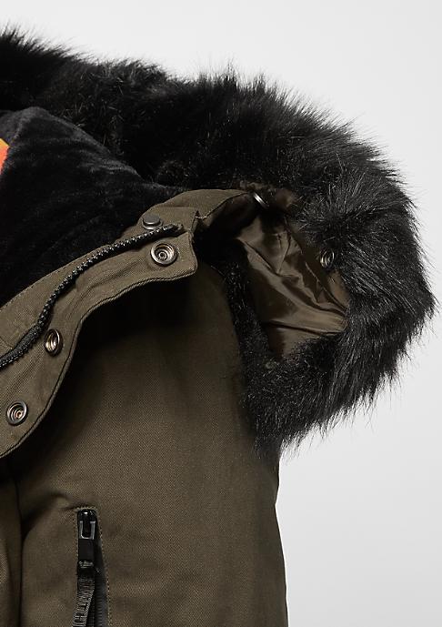 Sixth June Fur Parka khaki/black