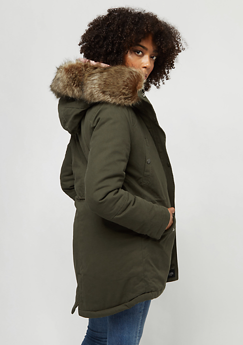 Sixth June Fur Parka khaki/beige