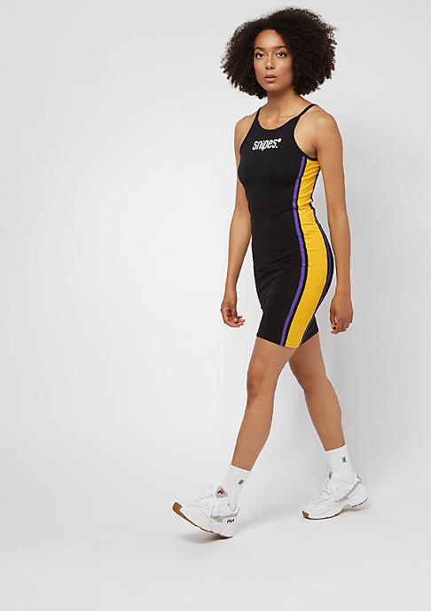 SNIPES Small Basic Logo Dress black/purple/yellow