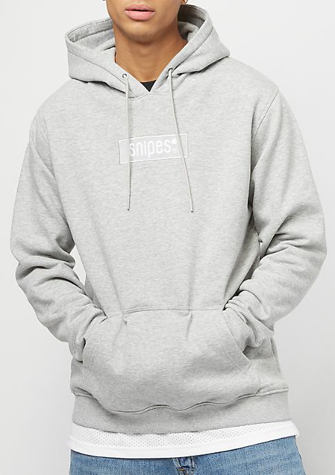 SNIPES Small Box Logo heather grey/white