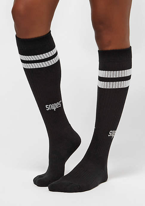 SNIPES Striped Tube Socks 2PK black white