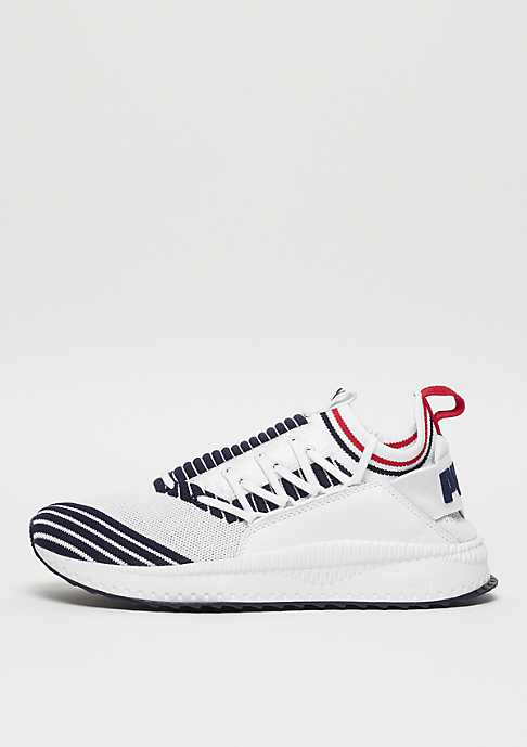 Puma TSUGI Jun Sport Stripes white/peacoat/ribboon red