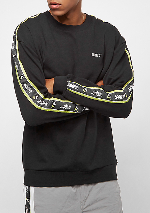 SNIPES Tape Crewneck black