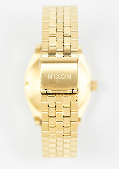 Nixon Medium Time Teller all gold/white