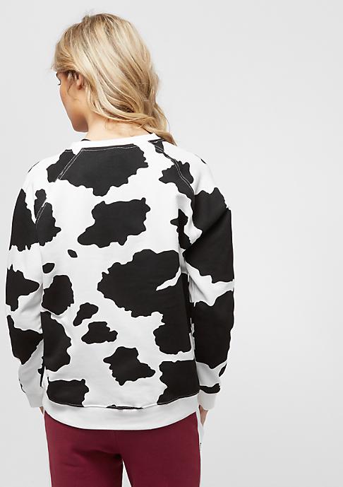Umbro Cow Print Crew Sweat black/white
