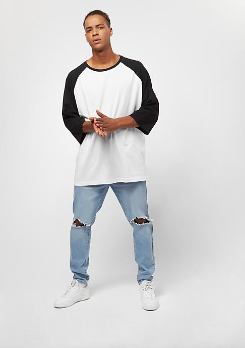 Urban Classics Oversize Contrast 3/4 Sleeve white/black