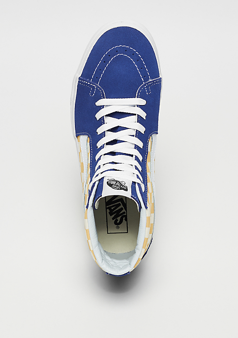 VANS SK8-Hi (Checkerboard) true blue/yellow