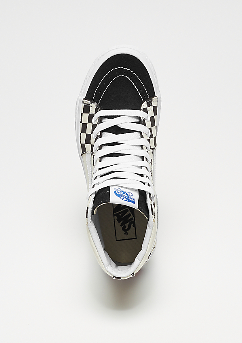 VANS UA SK8-HI checker sidewall (Checkerboard) black/true white