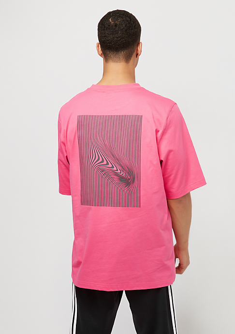 adidas Warped Stripes Backprint Tee pink