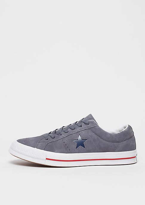 Converse One Star Ox Calzado white/gym red