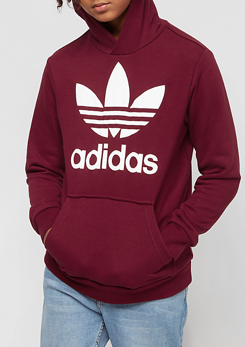 adidas Kids Trefoil collegiate burgundy/white