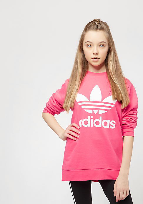 adidas Junior Trefoil real pink/white