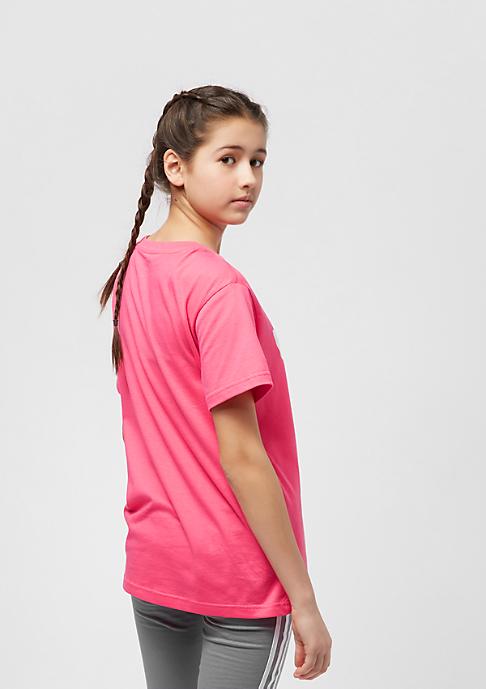 adidas Junior Trefoil real pink/white