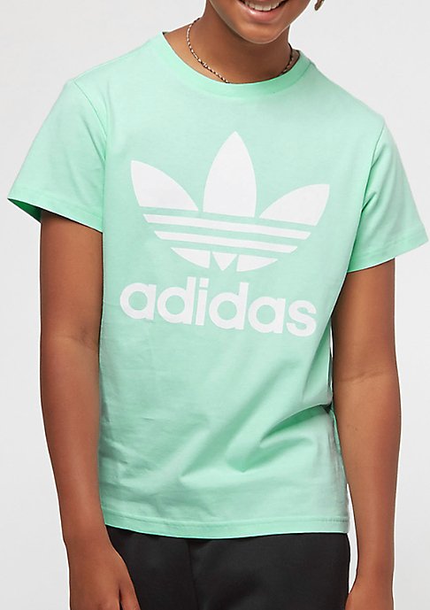 adidas Junior Trefoil clear mint/white