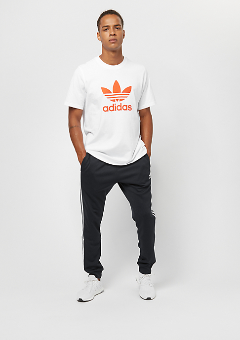 adidas Trefoil white/craft orange