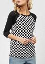 Checks Raglan checkerboard/black