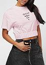 Crop Top Mirror Logo pale pink
