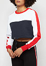 Cropped 3-Tone Stripe navy/white/firered