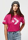 Floral Fill Star Chevron Mesh Easy pink pop