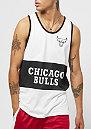 Mesh Wordmark Tank NBA Chicago Bulls white black