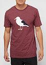 Gull 3 heather merlot red
