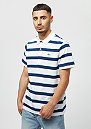 Short Sleeved Ribbed Collar Shirt white inkwell-papeete