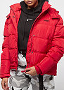 Detachable Hood Puffer red