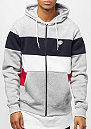 Color Block Full Zip heather grey