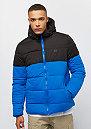 Hooded 2-Tone Puffer bright blue/black