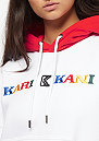 KK Retro Hoodie white red