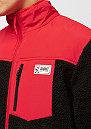 Block Fleece Jacket black/red
