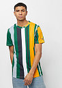 VERTICAL STRIPE PRINT TEE  GREEN
