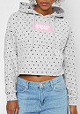 Cropped Hoody Dots light heather grey