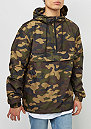 Camo Pull Over Windbreaker woodcamo