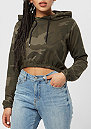 Ladies Camo Cropped olive camo