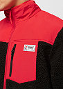 Block Fleece black/red