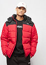 Detachable Puffer black/red