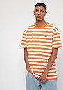 Stripe Tee orange/white