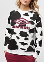 Cow Print Crew Sweat black/white