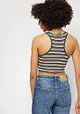 Rib Stripe Cropped white/green/firered