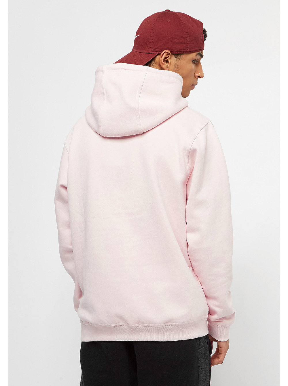 snipes hooded sweatshirt chest logo crystal pink white. Black Bedroom Furniture Sets. Home Design Ideas