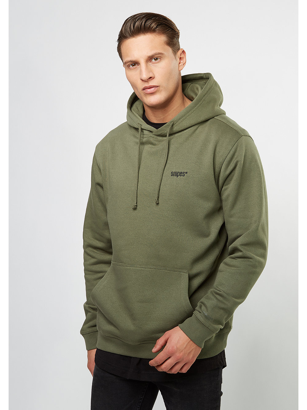snipes hooded sweatshirt chest logo olive night snipes. Black Bedroom Furniture Sets. Home Design Ideas